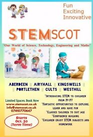 P1-P7 Science, Technology, Engineering and Math Classes Aberdeen/Aberdeenshire. Book Now!