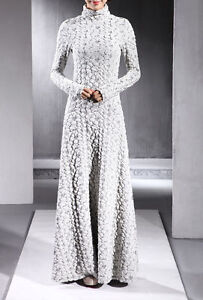 2014 New Women's super Turtleneck FULL LENGTH GOWN Maxi Long sleeve Dress