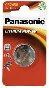 2x panasonic lithium puissance cr2450 3v pile bouton en - Pile cr2450 3v ...