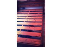 Chunky solid pine king size bed frame (delivery available)