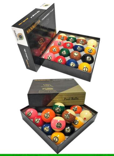 "Professional Black Kingkong Tournament Billiards 2-1/4"" Pool TV Ball Set"