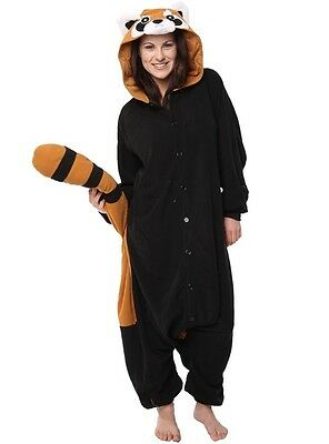 Raccoon Adult Pajama Animal Cosplay Costume Jumpsuit Size XL YONE001 US Seller, used for sale  South San Francisco