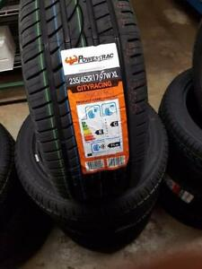 BRAND NEW SET OR PAIR ALL SEASON POWERTRAC TIRES 235/45/R17 WHEELS RIMS 235 45 17