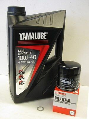 YAMALUBE SEMI SYNTHETIC OIL SERVICE KIT <em>YAMAHA</em> YZF R1 98 99 R6 99 00