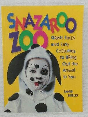 Snazaroo Zoo GREAT FACES and EASY COSTUMES Halloween Ideas Crafts BOOK - Halloween Ideas Easy