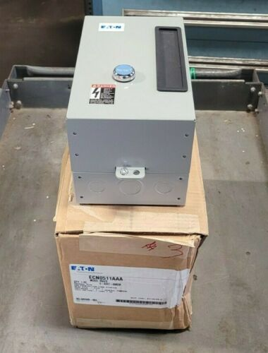 NEW EATON SIZE 1 ENCLOSED STARTER 120 VAC COIL 27 AMP 10 HP ECN0511AAA AN19DN0