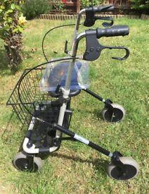 Mobility Walker - 4 Wheeler (Silver/Black)
