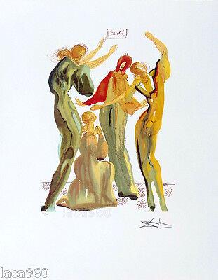 Salvador DALI Le Danse The Dancers Surrealist Litho Print 25 x 19-1/2