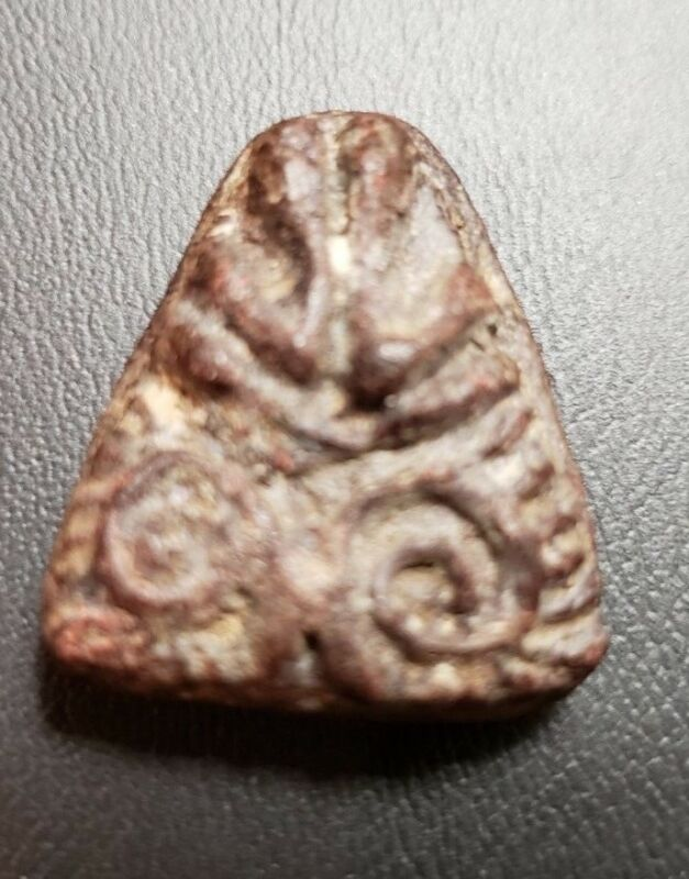Old Phra Pidta Amulet from Thailand Buddhist Temple