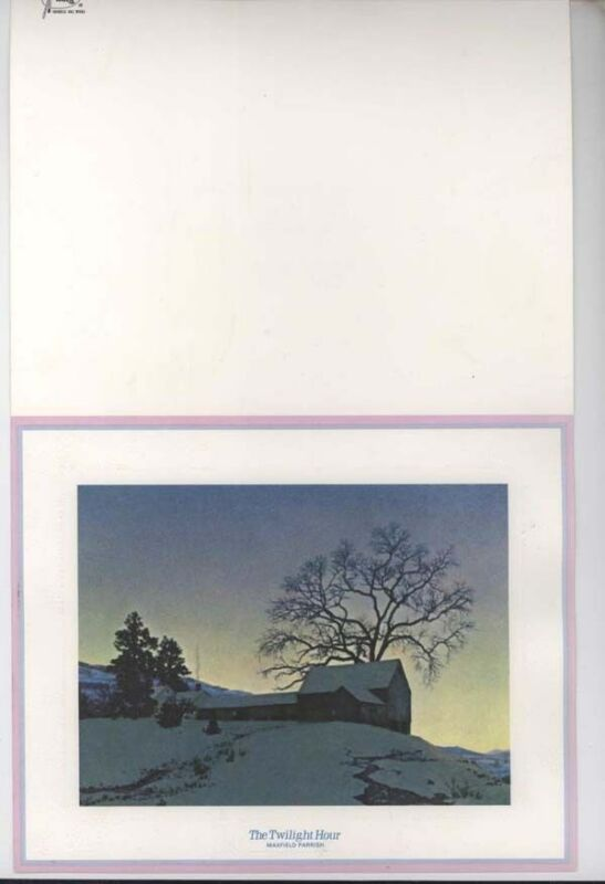 Vintage The Twilight Hour UNUSED Maxfield Parrish Christmas Card