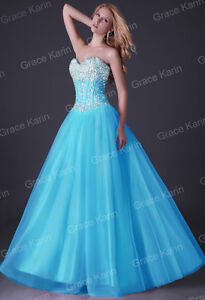 Stunning Sequins Beaded Corset Evening Formal Ball gown Party Prom Dresses Long