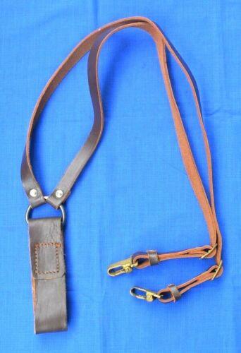 Bulgarian Army Web Gear Leather Y-Straps for Belt # 3