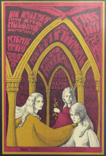 SALE! Rare PINK FLOYD Original Near MINT+  1967 BG 91  AOR FD  Fillmore Poster