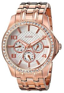 GUESS rose gold-tone multi-function watch