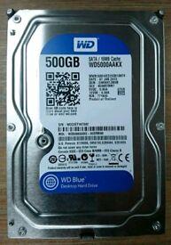 WD 500GB Hard Drive