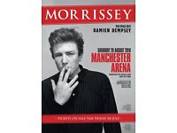 4 x Morrissey standing tickets Saturday 20th August Manchester Arena