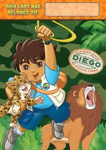 Go Diego Go Birthday Party Treat/Favor Bags 8ct - New!