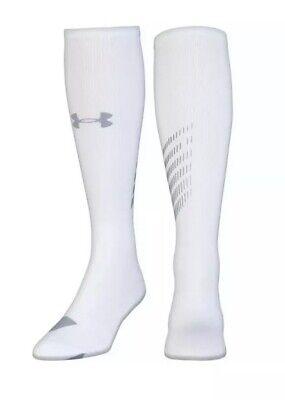 Under Armour Compression OTC Socks 1292834-100 Size M (4-8.5)  MSRP $25