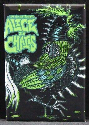"""Alice in Chains Concert Poster 2"""" x 3"""" Fridge / Locker Magnet."""