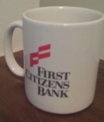 Classic First Citizens Bank Full Color Logo Mug Collectors Item   White Mug