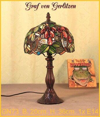 Graf von Gerlitzen Tiffany Tisch Lampe Leuchte Tiffanylampe Tischlampe GN73