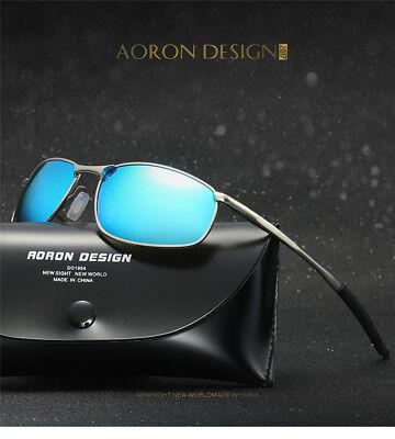 Fishing Sunglasses Silver Mirror Lenses - Polarized Sunglasses Silver Frame Blue Mirrored Lens Sport Driving Fishing A395