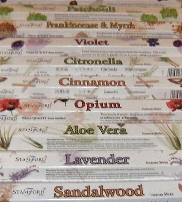 6 Boxes of Stamford Incense Sticks - Stock Clearance (6 Different Scents)