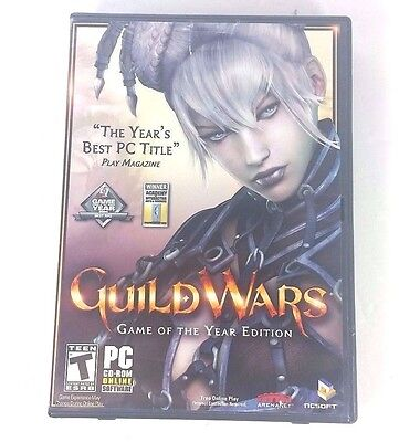 Guild Wars  Complete Game In Box  Free Online Play  Pc 2005  Ships Fast