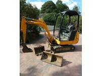 Mini digger hire with driver