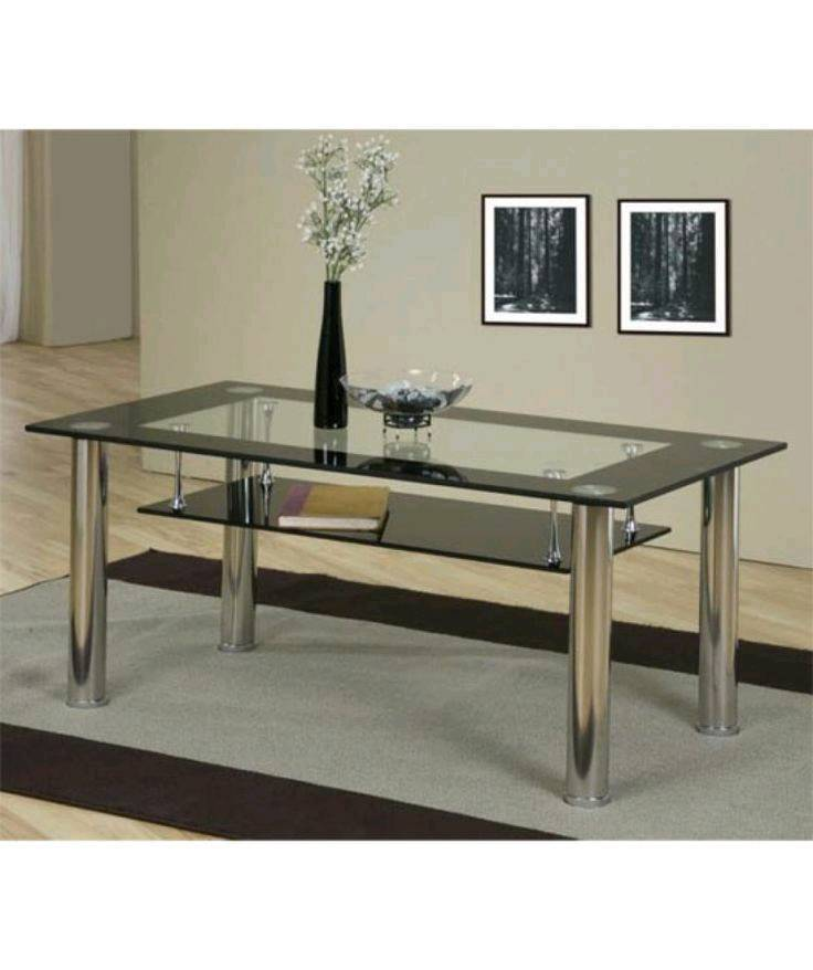 Glass Dining Table With Shelf Underneath 4 Chairs