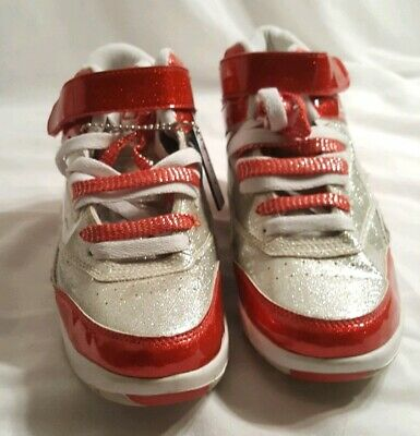 Vintage LA Gear Sneakers Hi Tops Red & Silver SIZE 8.5 M