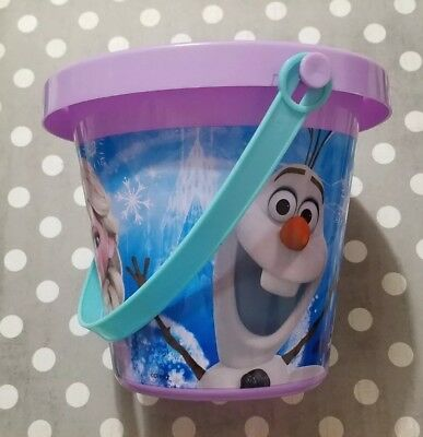 DISNEY FROZEN ANNA & ELSA PURPLE PLAY BUCKET SAND PLAYGROUND BEACH - Bulk Play Sand