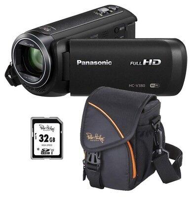 Panasonic HC-V380 EG-K inkl. Zubehörpaket: 32GB + Tasche ! HC-V380EGK