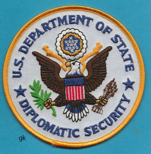 UNITED STATES DEPT. OF STATE DIPLOMATIC SECURITY POLICE SHOULDER PATCH