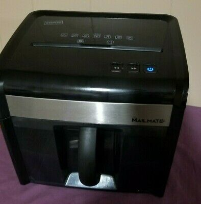 Staples Mailmate M7 Paper Shredder 12 Sheet Spl-txc12m7a Cross Cuttested