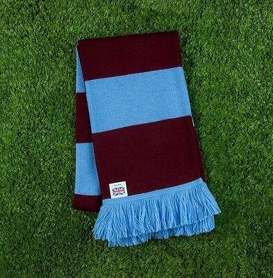Aston Villa Colours Retro Bar Scarf - Burgundy & Blue - Made in UK
