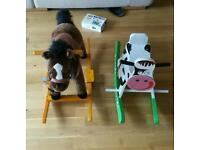 Rocking horse and cow