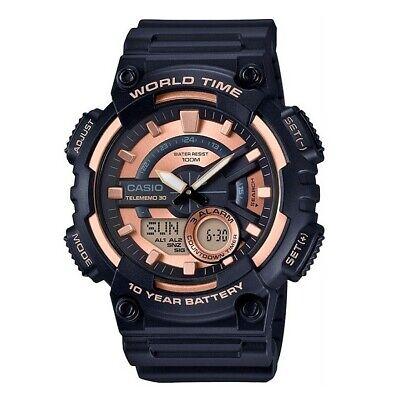Reloj Analogico Y Digital CASIO AEQ-110W-1A3 - Telememo 30 - Bateria 10...