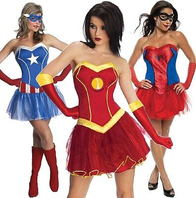 Comic Book Cosplay Costumes (Ladies Sexy Comic Book Day Week Superhero Cosplay Fancy Dress Costume)