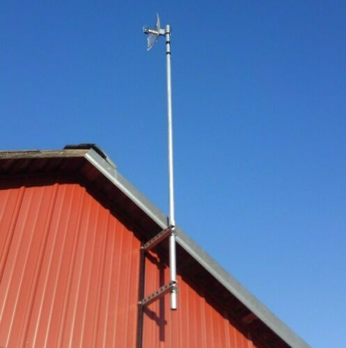 """MADE IN USA Antenna Mast Wall Mount with 4"""" to 14""""  stand off bracket HAM Radio"""