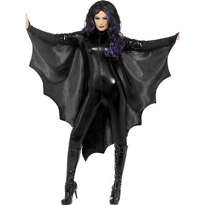 Black Bat Wings Sexy Costume Finger Mounts Halloween Fancy Dress Adult Womens - Bat Halloween Costume Wings