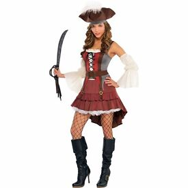 CASTAWAY PIRATE FANCY DRESS OUTFIT SIZE 10/12 GREAT FOR PARTY OR HEN DO