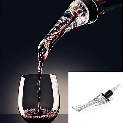 Red Wine Bottle Aerator Decanter Aerating Pourer Spout Bar Accessory Set$S$