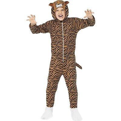 MÄDCHEN JUNGEN TIGER Zoo Tier Wild für Katzen Buch Tag Woche Verkleidung (Buch Tag Kostüme Für Mädchen)