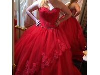 Red wedding dress/ prom dress