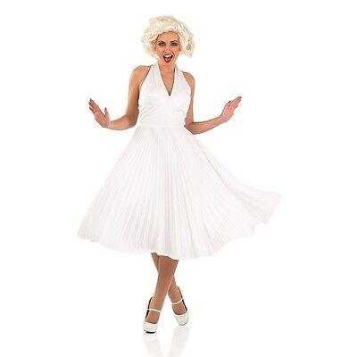 Ladies Sexy 1950s Celebrity Blonde Film Star Fancy Dress Party Costume Outfit