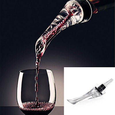 Red Wine Bottle Aerator Decanter Aerating Pourer Spout Bar Accessory Set  JKHWC