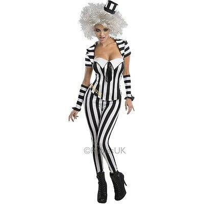 Damen 5 Stück Sexy Beetlejuice Halloween Kostüm Kleid Outfit UK - 5 Stück Sexy Damen Kostüm