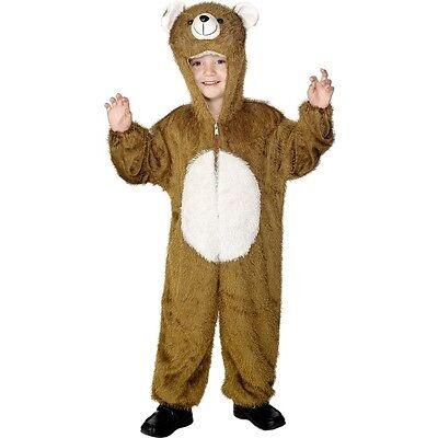 Boys Bear Costume (Childrens Fancy Dress Bear Costume Boys Girls Kids Childs Suit by Smiffys)