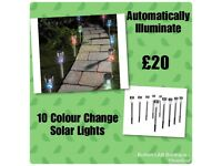 10 Colour Changing Solar Lights